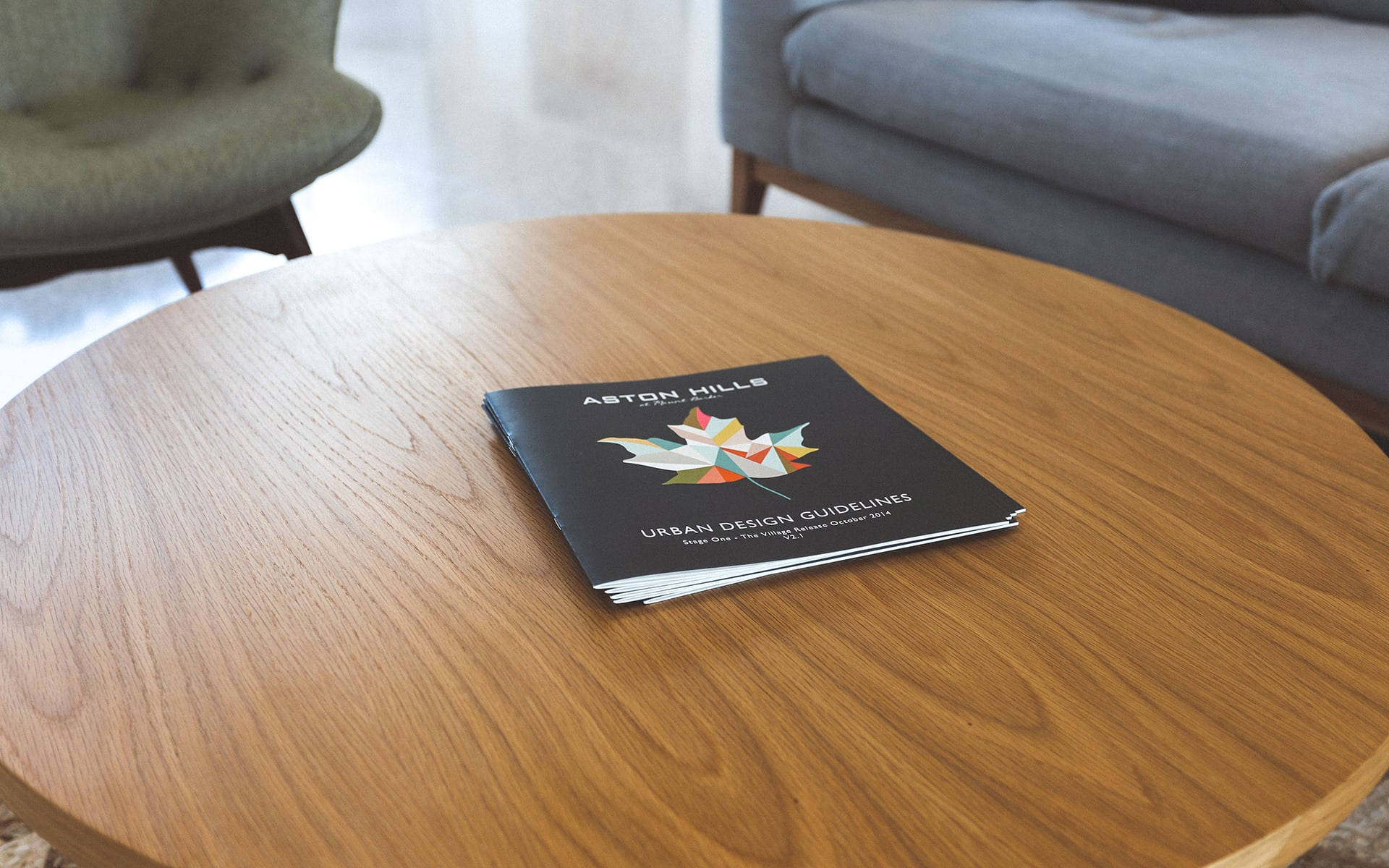 Aston Hills Brochure On Table