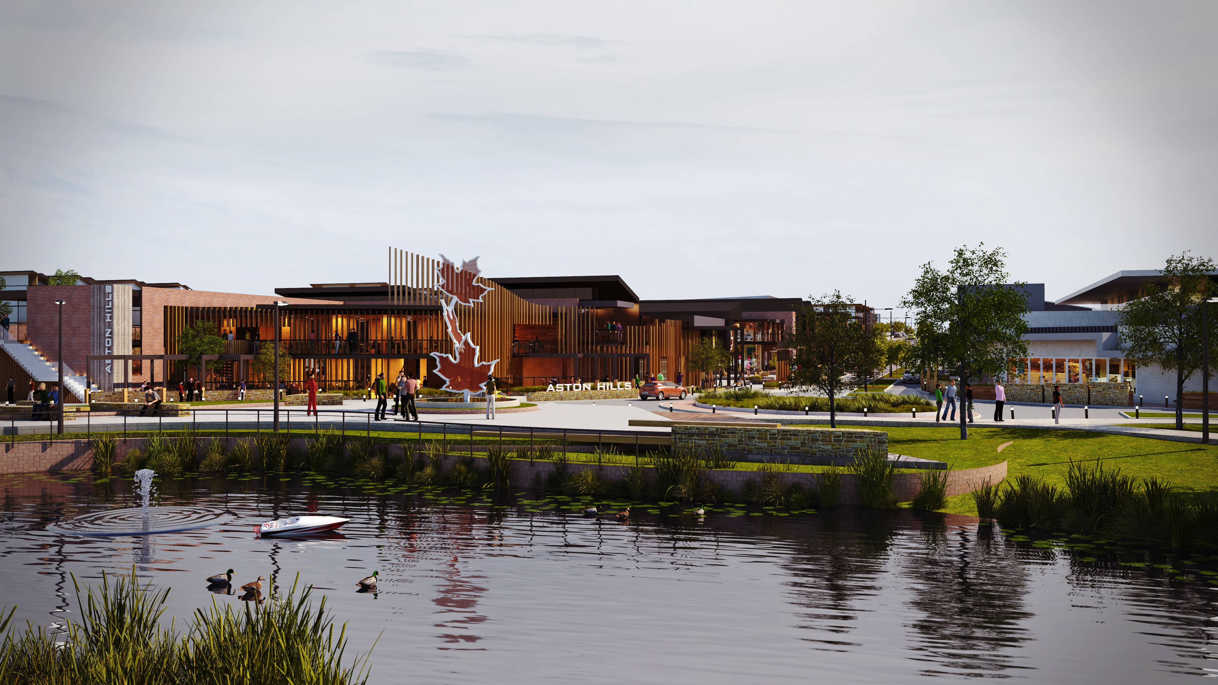 Aston Hills Mount Barker Central Lake Concept Art Lakes